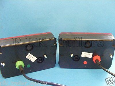 2 x Radex 5800 5 Pin Plug In Trailer Lamps with 6 metre Wiring Loom Harness 2