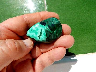 """Minerales """"  Extraordinario Mineral De Malaquita Rodada Del Congo  -  6A19 """". 2"""
