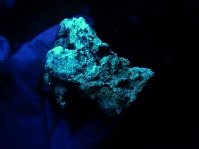 "Minerales "" Fabulosos Cristales Fluorescentes De Tarnowitzita Marruecos- 3B19 "" 9"