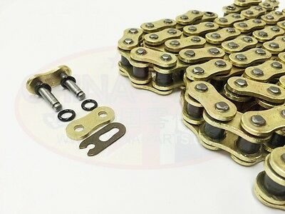 Heavy Duty Motorcycle X-Ring Gold Drive Chain 530-118L Kawasaki ZX-14 Ninja E 13