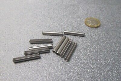 18-8 Stainless Steel Slotted Metric Spring Pin M4 Dia x 26 mm Length, 30 pcs 5