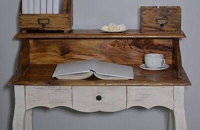 French Style Secretary Table Dressing Table Wood Oak White Vintage Retro 5