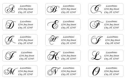 Monogrammed & Personalized Return Address Labels.  400 Count, 1/2 x 1.75 Inch. 2