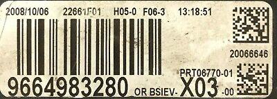 BSI vierge CITROEN C3 VALEO X03 9664983280