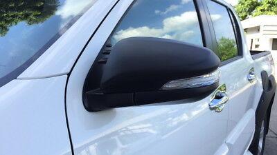 Matte Black Wing Side Mirror Cover For Toyota Hilux Revo M70 M80 SR5 2016 2018