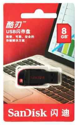 Clé USB 8 Go SanDisk CZ50 Cruzer Blade USB 2.0 Memory Stick Lecteur Flash Disk 10