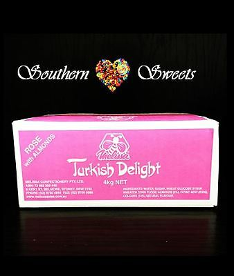 Turkish Delight Rose With Almonds  Bulk 4Kg Made In Australia Weddings Xmas 2 • AUD 35.00