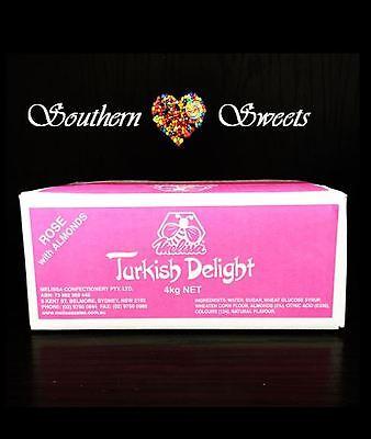 Turkish Delight Rose With Almonds  Bulk 4Kg Made In Australia Weddings Xmas 2