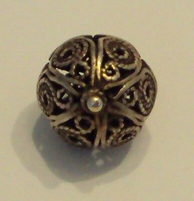 Amazing Post-Medieval Silver Pendant With Filigree # 477 4