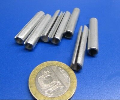 """Zinc Plate Steel Slotted Roll Spring Pin, 1/4"""" Dia x 1 3/8"""" Length, 100 pcs 6"""