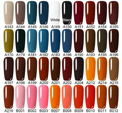 UV Nail Gel Polish Soak Off LED LEMOOC ® Colour Manicure Base Top Matte Coat 8ml 4