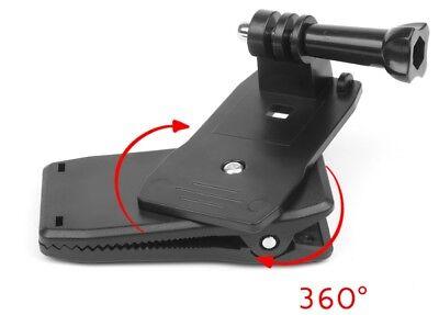 mantona Befestigungsklemme 360 für GoPro Aufnahmeplatte um 360° rotierbar