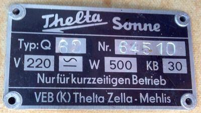 alte Höhensonne von Thelta Sonne | VEB Thelta Zella-Mehlis | 50er | DDR