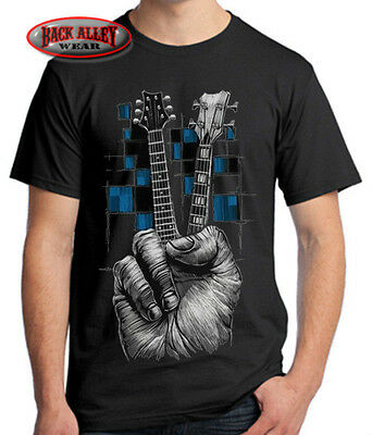 fa7648d77 ... Rock 1 of 3FREE Shipping DON'T FRET T-SHIRT Tee ~ MUSIC ~ Guitarist  Bass Guitar Peace Sign