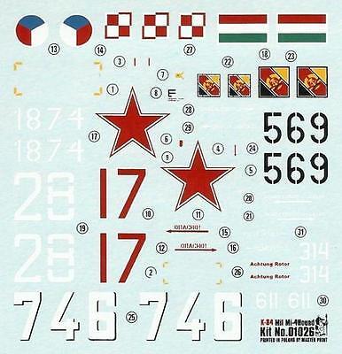 1//72 SMER CZECHOSLOVAK, GERMAN, HUNGARIAN, POLISH /& SOVIET MKGS MIL Mi-4 HOUND