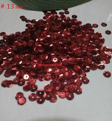 HOT DIY 2000 pcs Oval Round Cup Sequins Paillettes Loose AB 6mm Wedding Craft 8