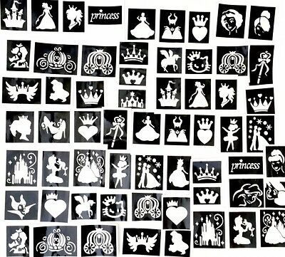 GLITTER TATTOO KIT 158 stencil 8glitter fairy easter superhero princess boy girl
