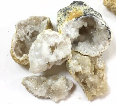 "50 Break Your Own Geodes Quartz Crystals Bulk Pack - Whole Moroccan 1.5"" 4"