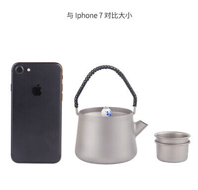 Pure Titanium Kung Fu Tea Container Hand pot Teapot cup With Filter Strainer 6