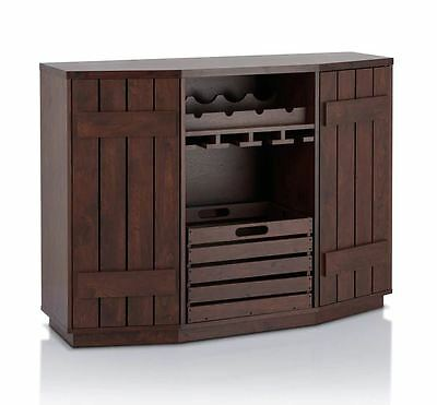 Mini Bar Liquor Storage Cabinet Home Furniture Buffet Table Wine