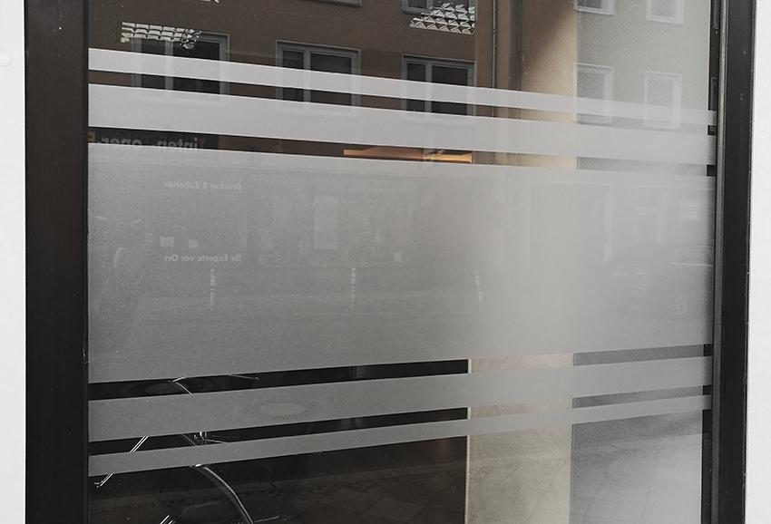 SICHTSCHUTZ FOLIE MILCHGLAS Streifen Glas Dekoration Sichtschutz Fenster  #S92