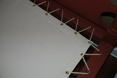 Custom Made Canvas Sacking Bottom for Rope or Peg Bed - Rope Bed Restoration 6
