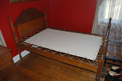 Custom Made Canvas Sacking Bottom for Rope or Peg Bed - Rope Bed Restoration 2