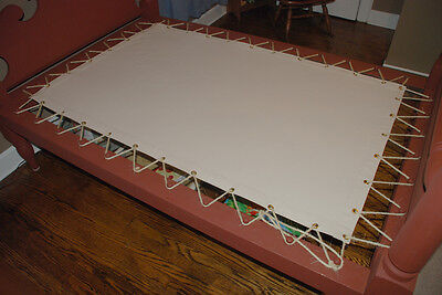 Custom Made Canvas Sacking Bottom for Rope or Peg Bed - Rope Bed Restoration 5