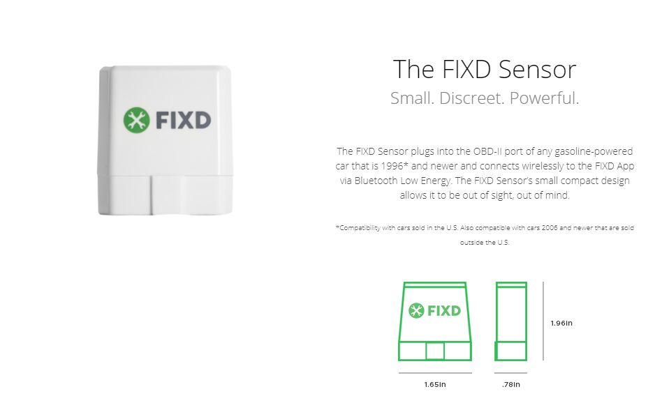 New FIXD OBD-II 2nd Generation Car Sensor 10