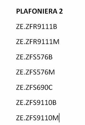 PLAFONIERA ZEPHIR 2 - (scorrere immagine per vedere modelli compatibili) 2