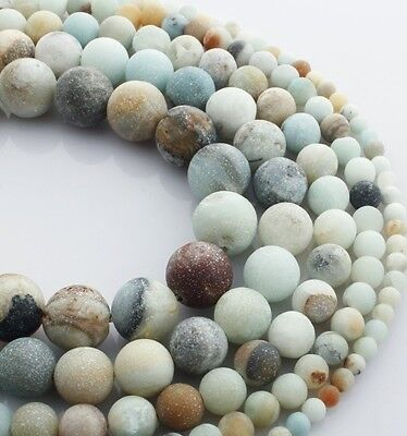 4/6/8/10mm Lot Natural Frosted Stone Loose Bead Bracelet Jewelry Manual DIY Hot 3