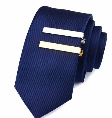 Mens Gold Silver Black short Slim Tie Pin Clip Clasp Bar office Christmas dad 4