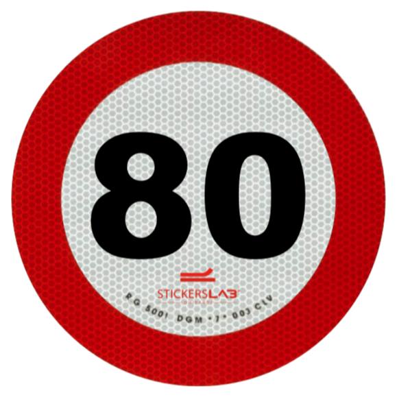 Contrassegno Limite Velocità 70 e 80 km/h Omologati EU rifrangenti materiale 3M 3