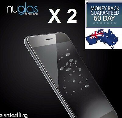 2X NUGLAS Tempered Glass Screen Protector for iPhone XS Max XR  8 7 6S Plus 5 SE 8