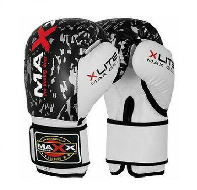 Maxx® Boxing Gloves Punch Bag Training MMA Muay Thai KickBoxing Fight Sparring U 12