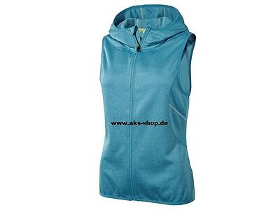 7fb75b9fe033c1 ... Damen Funktionsweste Weste Kapuze Jogging Training Blau Grau Gr. XS,S,M,