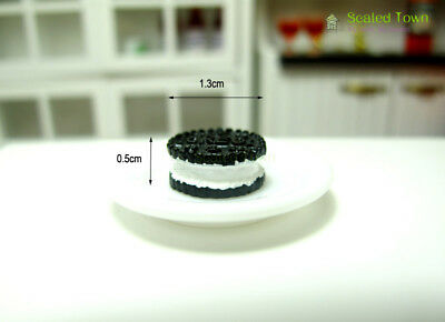 10 Miniature Oreo Sandwich Biscuit Chocolate Cookies Dollhouse Food Bakery Decor 3