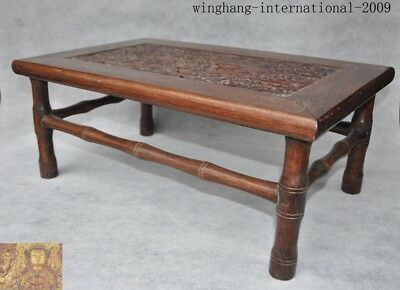 chinese Huanghuali wood Carving Dragon Classical furniture coffee table Tea desk 3