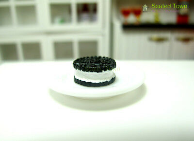 10 Miniature Oreo Sandwich Biscuit Chocolate Cookies Dollhouse Food Bakery Decor 8