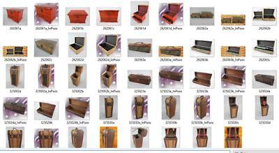 Schmuckschatulle Set v.2 Holz farbe Mahagonie Vintage Designer Geschenk Luxus 8