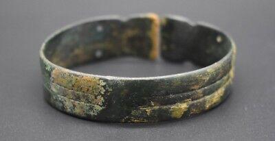 Ancient Bactrian bronze decorated bracelet C. 500 BC 6