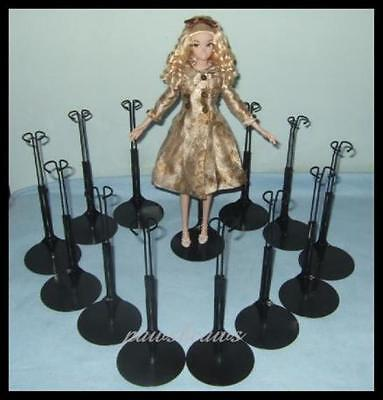 12 Black Kaiser BARBIE Doll Stands fit Monster High Fashion Royalty 2