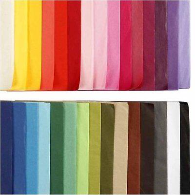 10 Large Sheets Acid Free Biodegradable Quality Tissue Paper 27 Colours 50X75Cm