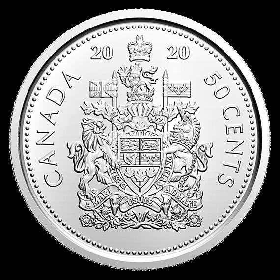 Canada 2020 Brilliant Uncirculated BU UNC MS Fifty Cent Piece!! 2