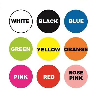 ASSORTED SIZES Colour Sticker Dots Adhesive Round Labels Circular Spot Scrapbook 2