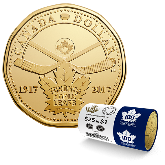 CANADA 2017 New Loonie 100th Anniversary Toronto Maple Leafs (BU From roll) 3