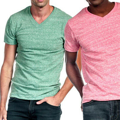 3feaba0778e2 ... Tri Blend V Neck T Shirt Short Sleeve Slim Fit Casual Plain Tee Shirts  Top Mens