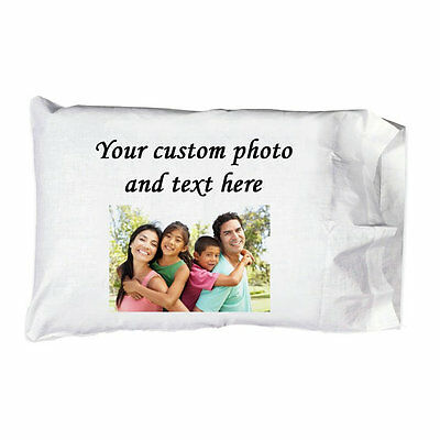 New Custom Personalized Photo SINGLE ONE 100% EGYPTIAN Cotton Pillow Case New