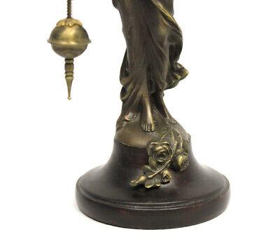 German Style Junghans Brass Diana Lady Figure Swinging Swinger Clock 4