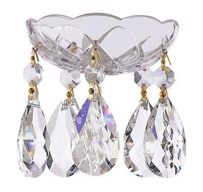 1 pc crystal chandelier bobeche 30 lead chandelier parts wgold 9 of 12 1 pc crystal chandelier bobeche 30 lead chandelier parts wgold pin aloadofball Images